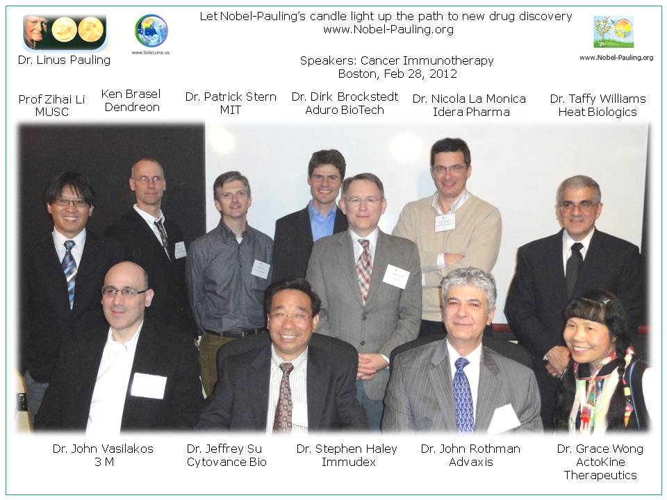 2012 dinner with speakers for mixing academia (students/postdocs) with biotech industry- sponsored by Immundex, Boston